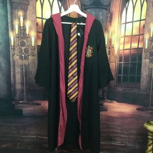 Deluxe Harry Potter Costume Robe, Tie & Glasses L
